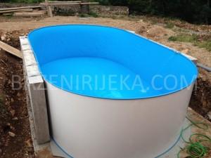 Montažni ovalni bazen