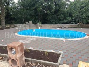 Montažni ovalni bazen gotov